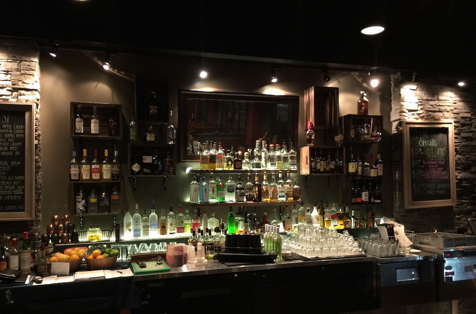 Tapped's Main Bar with Plenty of Selection
